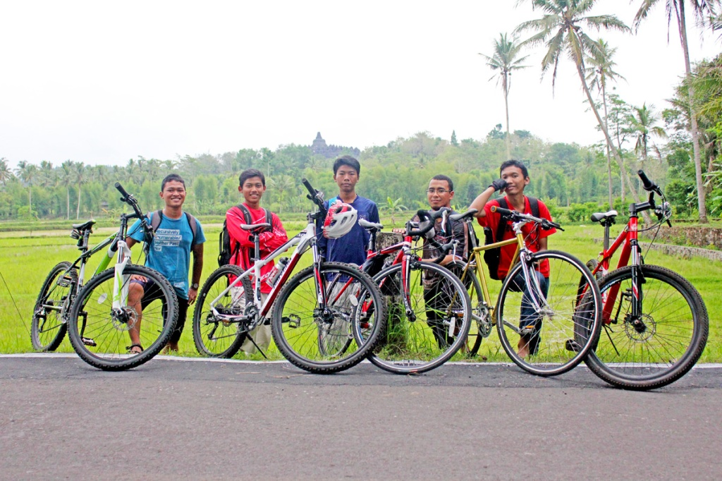 with our bikes